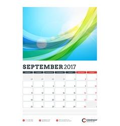 Wall calendar planner template for 2017 year vector