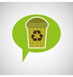 Symbol recycle trashcan design vector
