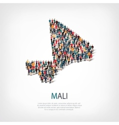 People map country mali vector