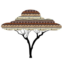 Abstract tree african savanna vector
