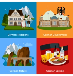 Germany travel flat concept vector