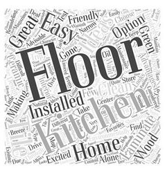 Kitchen remodeling ideas and floors word cloud vector