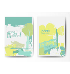 Grunge brushed postcards template vector