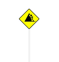 Possible falling stone sign vector