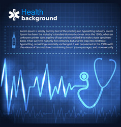Health blue background vector