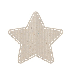 Star recycled paper craft on white paper backgroun vector