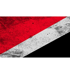 Flag of the principality sealand with old texture vector