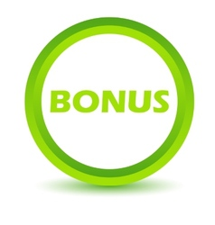Green bonus icon vector