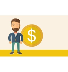 Businessman with dollar sign vector
