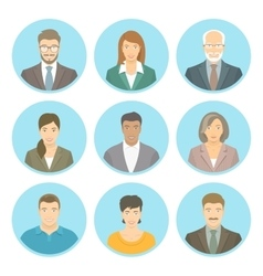 Business people flat avatars male and vector