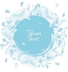 Round flowers frame vector
