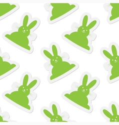 Seamless - back easter bunnies vector