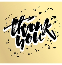 Thank you card hand lettering motivation poster vector