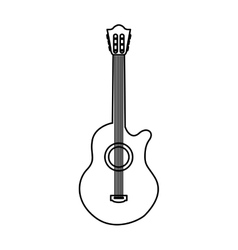Acoustic guitar instrument icon vector