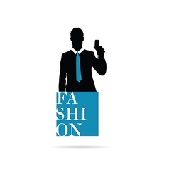 Banner fashion with man silhouette vector
