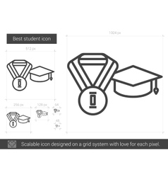 Best student line icon vector image