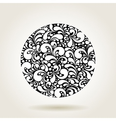black curves circle1 vector image vector image