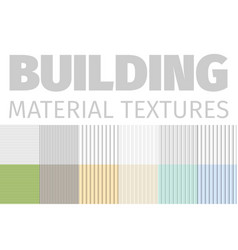 Building material textures set of patterns vector