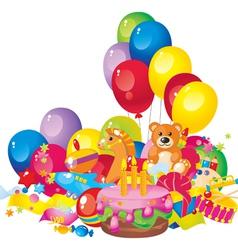 childrens birthday vector image
