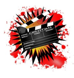 Christmas clapperboard vector