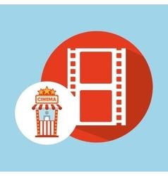 Cinema movie ticket office film strip graphic vector