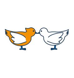 doves birds icon vector image vector image