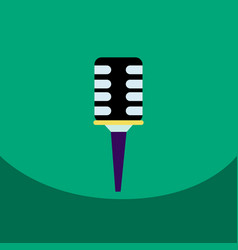 Flat icon design collection microphone in vector