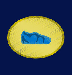 flat shading style icon footwear sport shoes vector image
