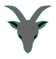 Goat as capricorn vector