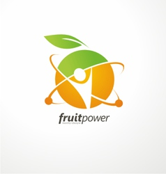 Healthy life style logo design vector image