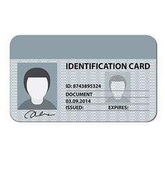 Identification card vector