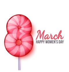 International womens day march 8 lollipop eight vector