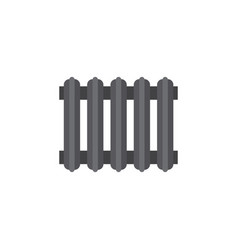 Isolated radiator flat icon heater element vector