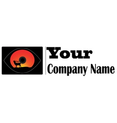 Logo eye deer vector