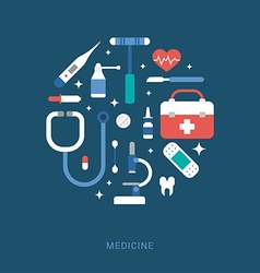 Medical Icons in the Shape of Circle Suitcase vector image vector image