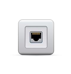 Network socket icon vector image vector image