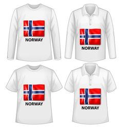 Norway shirt vector image vector image