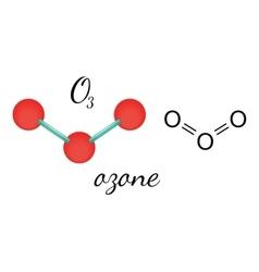 O3 ozone molecule vector