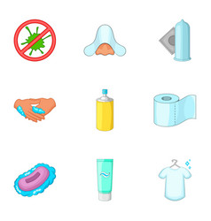 personal hygiene icons set cartoon style vector image