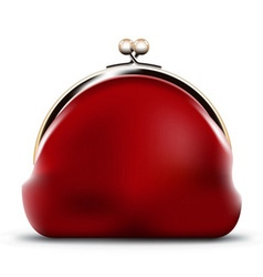 Red purse vector