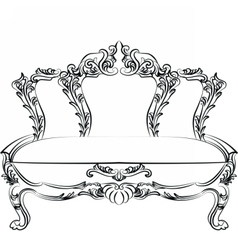 Royal Baroque Classic sofa furniture vector image