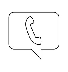 Speech bubble with telephone icon vector