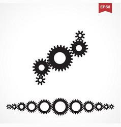 standard gear icon vector image