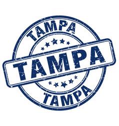 Tampa blue grunge round vintage rubber stamp vector