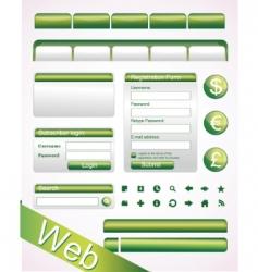 Website elements vector