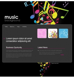 website template with notes vector image vector image