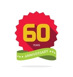 Years 60 anniversary label logo 60th vector
