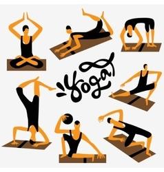 yoga character vector image