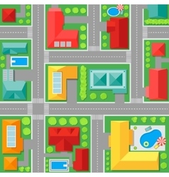 Map of town top view vector