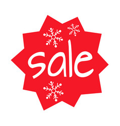 christmas sale shaped icon on white background vector image